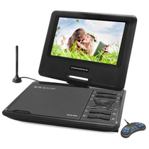 Dvd Portatil Tv Digital Tela 9 Gira 270º Sd Usb Fm Jogos