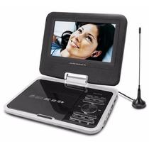 Dvd Player Portátil Powerpack Dvd-tv7318.b Cor Preto