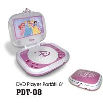 Dvd Player Portátil Dotcom Pdt-08 Tela De 7 Disney Princesa