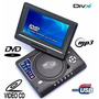 Dvd Portatil Tv 7.8 Tela Lcd Gira180º Sd Usb Game Usb Mp5 Fm