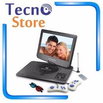 Dvd Portátil Powerpack 1563 Tela 15 Com Tv Digital E Jogos