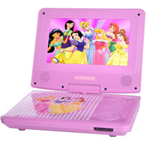 Dvd Portátil Disney Pdt-704 Princesas - Rosa