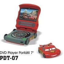 Dvd Player Portatil Infantil Dotcom Pdt-07 7 Disney Cars