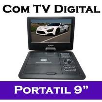Dvd Portatil 9 Pol Midi 9292-9015 Tv Analogica E Tv Digital