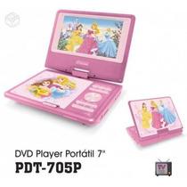 Dvd Portatil Dotcom Pdt-705 Disney Princesas Infantil Rosa