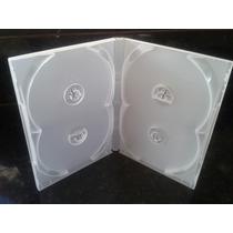20 Capa Box Quadruplas Transparente Videolar
