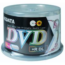 Mídia Virgem Ridata Printable 100 Dvd-r Dl 8.5 8x Fab. Ritek