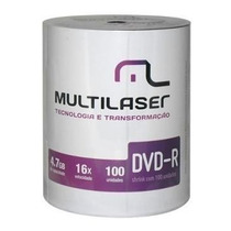 600 Dvd-r Multilaser Midia Virgem C/logo 8x/16x 4.7g Lacrado