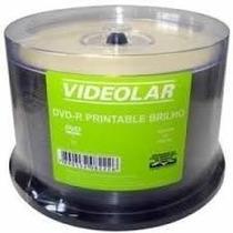 50 Dvd-r Videolar Printable Brilho 4.7g - Dvd-r Virgem