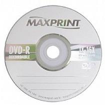 100 Midia Dvd-r Virgem Maxprint C/logo 8x/16x Max Print 4.7g