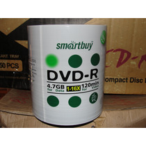 100 Dvd-r Smartbuy 16x Com Nf Dvd R Virgem Dvd -r - R