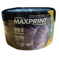 100 Dvd -r Maxiprint 16x Logo Original ( Consulte Frete)