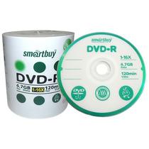 100 Dvd-r Virgem Smartbuy C/logo 16x 4.7gb Midia Smart Buy