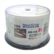 100 Dvd+r New Star Dl 8.5 Printable Midia Virgem 8x Umedisc