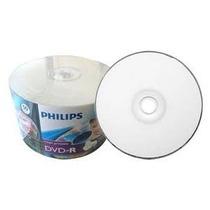50 Dvd-r Phillips Printable Midia Virgem 4.7g 1-16x Lacrado