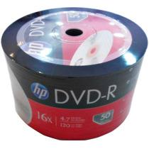 Dvd-r Hp 16x 4.7gb C/logo - 100 Unidades (shrink Lacrado)