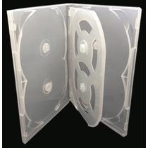 Kit Estojos Capa Dvd Box Sextuplo Blu-ray Slim Transparente