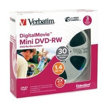 05 Mini Dvd-rw Verbartim 1.4 Gb Regravavel P R O M O Ç Ã O