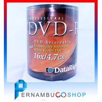 100 Dvd Mídia Virgem - 4.7gb 120min Dvd-r Com Logotipo Fg