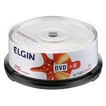 Midia Dvd-r 4,7gb / 120 Min / 16x Bulk 25un Elgin