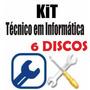 Kit Tecnico De Informatica Manutencao Profissional 6 Discos