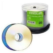 100 Dvd-r Videolar Printable Brilho - Dvd-r Virgem