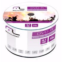600 Unidades Midia Dvd-r Virgem Multilaser C/logo 16x 4.7g