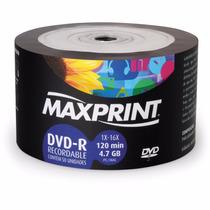 100 Dvd -r Maxprint Original Mídia Gravável 4.7 Gb 16x