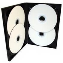 50 Box Dvd Quadruplo Ou Triplo Preto Videolar