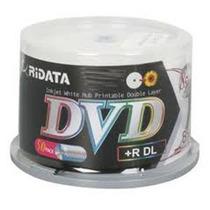Mídia Virgem Ridata Printable 50 Dvd+r Dl 8.5 8x Fabr. Ritek