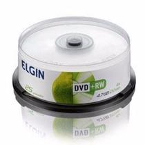Dvd-rw Cake Mídia Virgem Elgin 4.7gb C/ 25 Unidades 120 Min