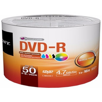 Dvd-r Sony 16x 4.7gb Printable - 50 Unidades (shrink)