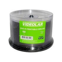 Dvd-r Videolar 8x 4.7gb Printable Perolado Com 100 Unidades
