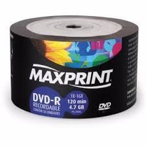 100 Dvd -r Maxiprint 16x Logo+ 100 Cd Multilaser
