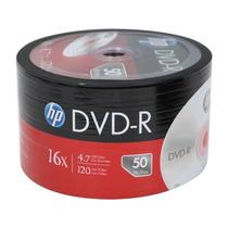 50 Midia Dvd-r Virgem Dvdr Hp C/logo 16x 4.7gb