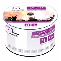 100 Midia Dvd-r Virgem Dvdr Multilaser C/logo 16x 4.7g