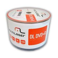 50 Dvd+r Dl 8.5gb 8x Printable Multilaser Umedisc - Xbox