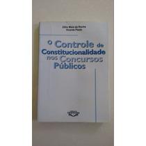 Livro O Controle De Constitucionalidade Nos Concursos Public