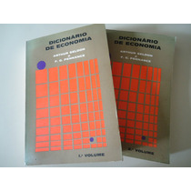 Dicionário De Economia - 2 Volumes (1968)