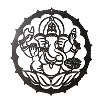 Quadro Mandala Indiana Ganesha Em Mdf 48 Cm.