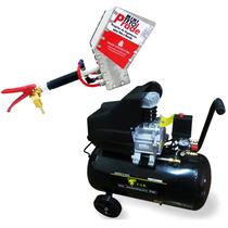 Compressor Ar 10 Pés 50l 110v Ak-4850 + Projetor 2,8l Reboco