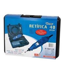 Micro Retifica Kit 40peças Eixo Flexível Maleta 127v Western