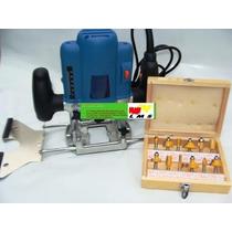 Tupia Coluna - Pinça 8mm E 6mm + Kit 12 Fresas 6mm 110 V