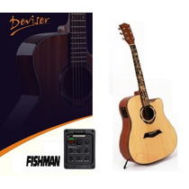 Violão Acustico Elétrico Deviser Folk Fishman Com Bag 860b