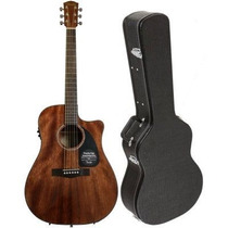 Violão Fender Cd-60 Ce Dreadnought Com Case - All Mahogany