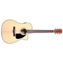Violão Fender Dreadnought Com Case New Cd60ce Natural Loja