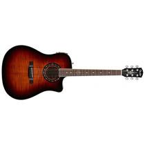 Violão Fender Tbucket 300ce Sb Flamed 3 Na Cheiro De Música