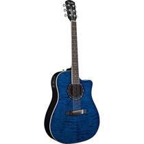 Violão Fender Folk T-bucket 300ce Cutway Azul Transparente