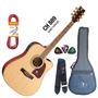 Kit Violão Eagle Folk Ch889 Elétrico C/ Afinador Satin Natur