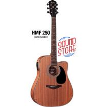 Violao Hofma Folk Hmf250 Eletrico Com Afinador- Sound Store